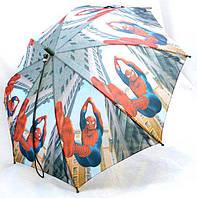 Зонт Детский трость матовый полуавтомат Человек Паук 18-3126-15