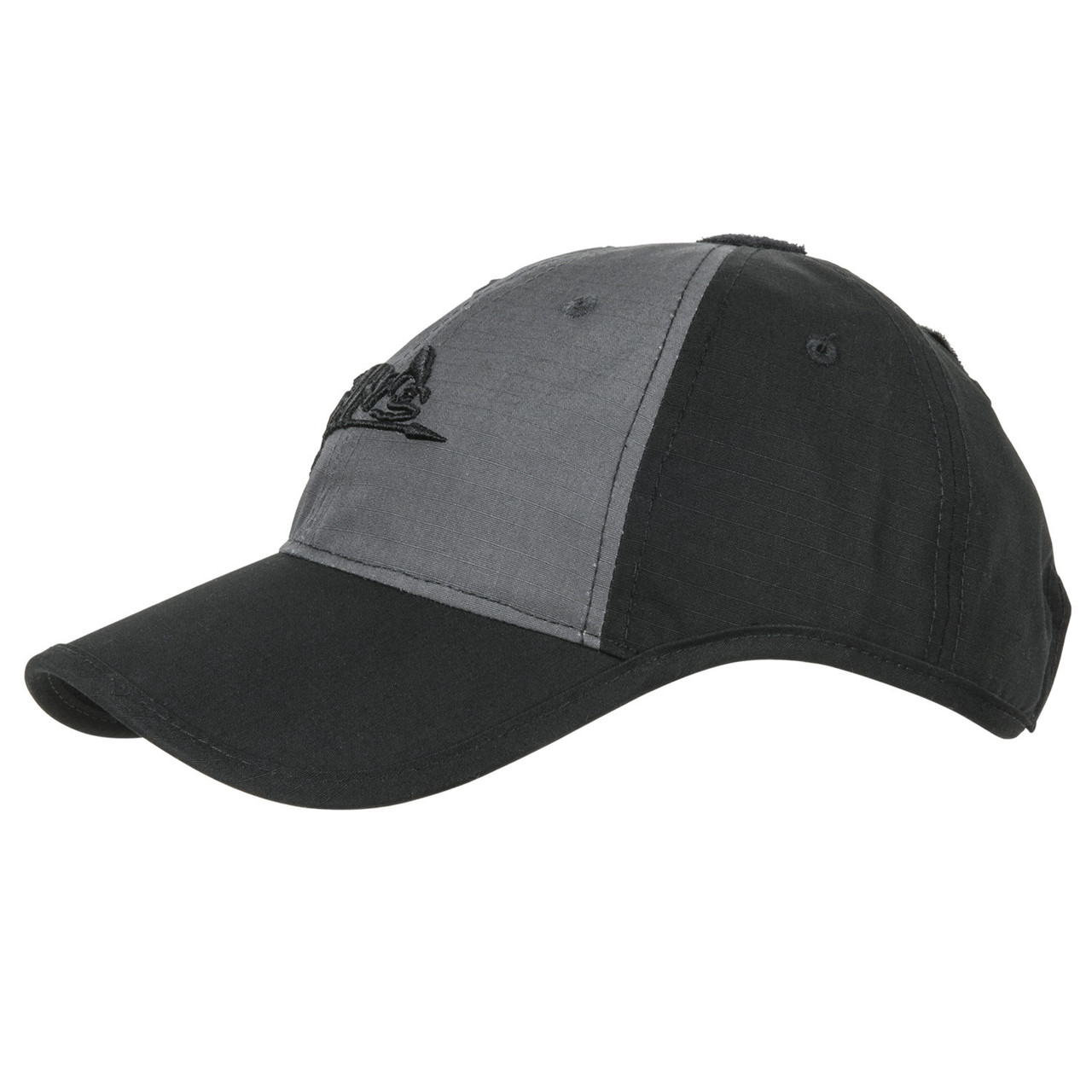 Тактическая бейсболка Helikon-Tex® Logo Cap - PolyCotton Ripstop - Темно-серая/Черная