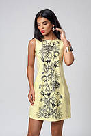 Яркое летнее женское платье желтого цвета