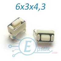 Кнопка тактовая 6х3х4,3 мм. DIP