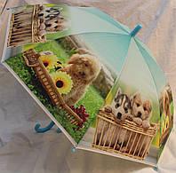 Зонт Детский трость полуавтомат Собаки Щенки  18-3127-2