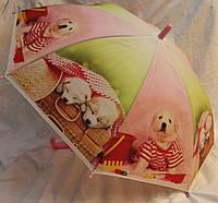 Зонт Детский трость полуавтомат Собаки Щенки 18-3127-3