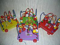 Деревянные игрушки Лабиринт-каталка четыре цвета