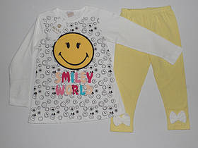 """Костюмы """"Smiley world"""" для девочек 3,4,5,6 лет 100% хлопок."""