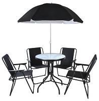 Набор садовой мебели стол + 4 кресла + зонт