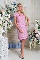 Платье Мирослава АПМ 0302 цветы розовый