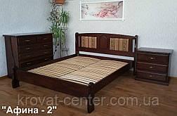 """Спальный гарнитур из дерева от производителя """"Афина"""" (кровать с тумбочками), фото 3"""