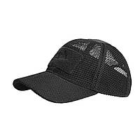 Тактическая бейсболка Helikon-Tex® Baseball Mesh Cap - Черная, фото 1