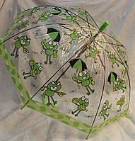 Зонт Детский трость полуавтомат Лягушки 18-3128-7