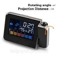 Часы-метеостанция с проектором времени Table Clock, фото 1