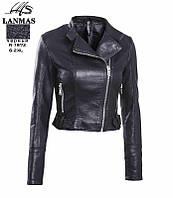 """Куртка женская косуха кожзам стильная, размер S-2XL Серии """" LANMAS """" купить оптом в Одессе на 7 км"""