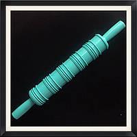 Скалка текстурная с ручками Полоски