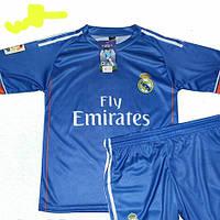 Детско-подростковая (3-15 лет) футбольная форма ''Роналду'' - ФК ''Реал'' (Мадрид) - синяя, гостевая