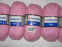 Пряжа для ручного вязания YarnArt Angora ram нитки 10119 светло  розовый