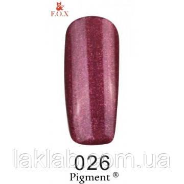 Гель лак (Pigment) F.O.X. №026,6 мл
