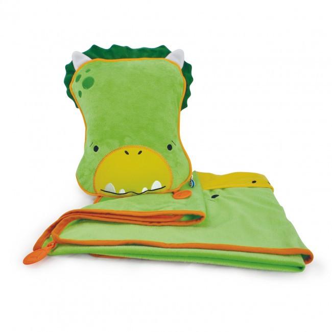 Детский плед, подушка, Динозавр Дадли, Trunki TRUA0076
