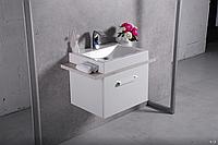 Шкафчик навесной Fancy Marble Santa Cruz с раковиной Fancy Marble Lily 600