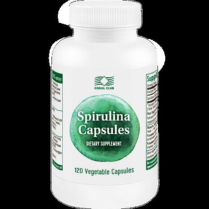 Спирулина КоралКлаб в капсулах улучшает обмен веществ, 120 капс., фото 2