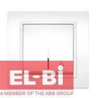 Выключатель 1-кл. проходной с подсветкой белый El-Bi Zena 500-010200-210