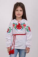 """Вышиванка для девочки с завязками """"Казкова квітка"""""""