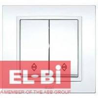 Выключатель 2-кл. проходной белый El-Bi Zena 500-010200-211