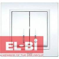 Выключатель 2-кл.с подсветкой белый El-Bi Zena 500-010200-203