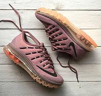 Nike Air Max 2016 Purple Smoke Orange | кроссовки женские; летние; спортивные; сиреневые, оранжевые