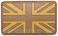 Velcro Значки, Великобритания, пустыня, 3D, Размер: 8 х 5 см