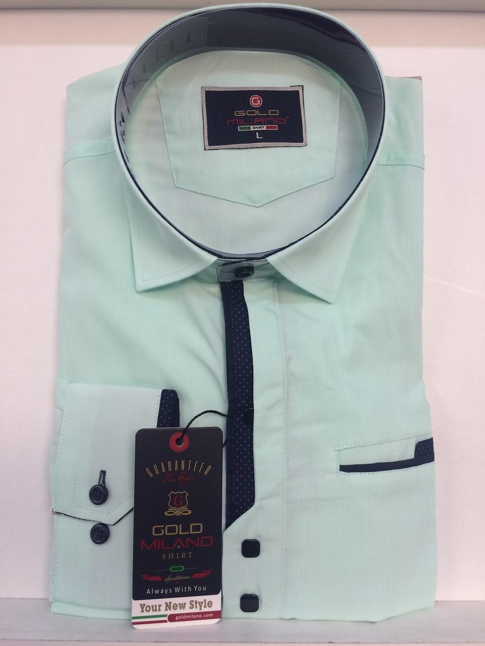 Рубашка однотонная Gold Milano