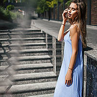 Сарафан женский нежно-голубого цвета
