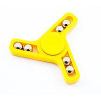 "Спиннер - ""Тринога з шариками"", волчок, Fidget spinner, желтый"