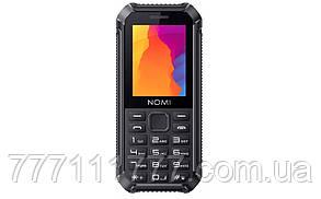"""Влагозащищенный телефон Nomi i245 X-treme Black черный  IP67 (1SIM) 2,4"""" 32/32МБ+SD 0,8Мп оригинал Гарантия!"""