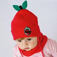 """Осенняя шапочка """"Оранж"""" комплект для девочки"""