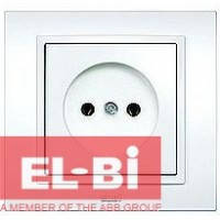 Розетка без заземления белая El-Bi Zena 500-010200-215