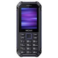"Влагозащищенный телефон Nomi i245 X-treme Black-Blue синий IP67(1SIM) 2,4"" 32/32МБ+SD 0,8Мп оригинал Гарантия!"