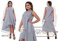 Свободное асимметричное платье в расцветках БАТ 485 (6714)