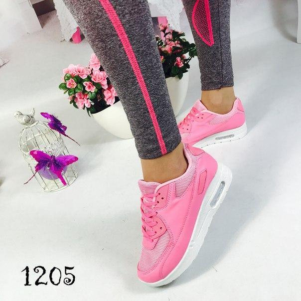 Женские нежно-розовые кроссовки , фото 1