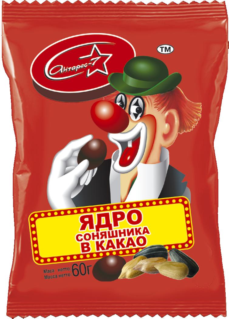 """""""Клоун"""" Ядро соняшника в какао 60 гр"""