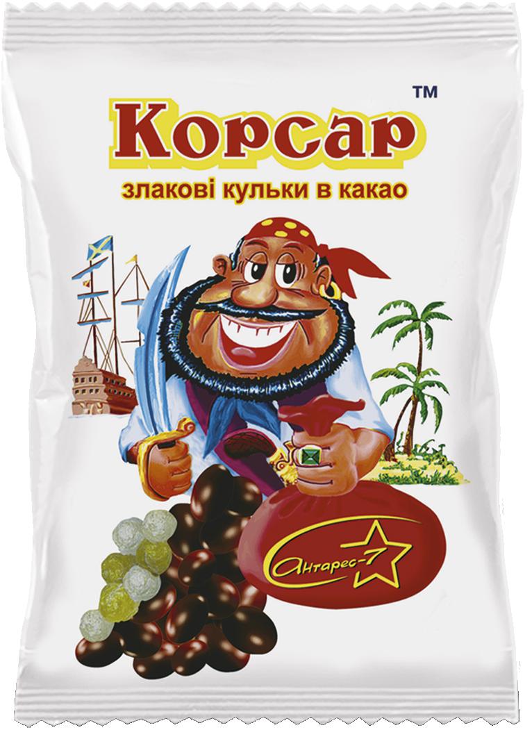 """""""Корсар"""" Злакові кульки в какао 50 гр"""