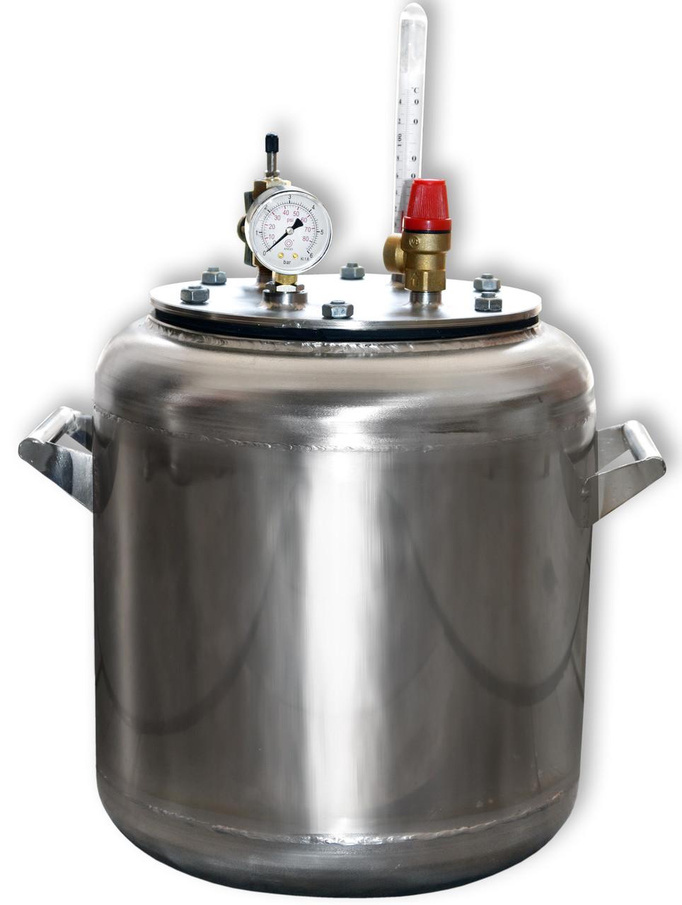 Автоклав газовый А16 нержавеющая сталь (0,5л - 16шт, 1л - 7шт)