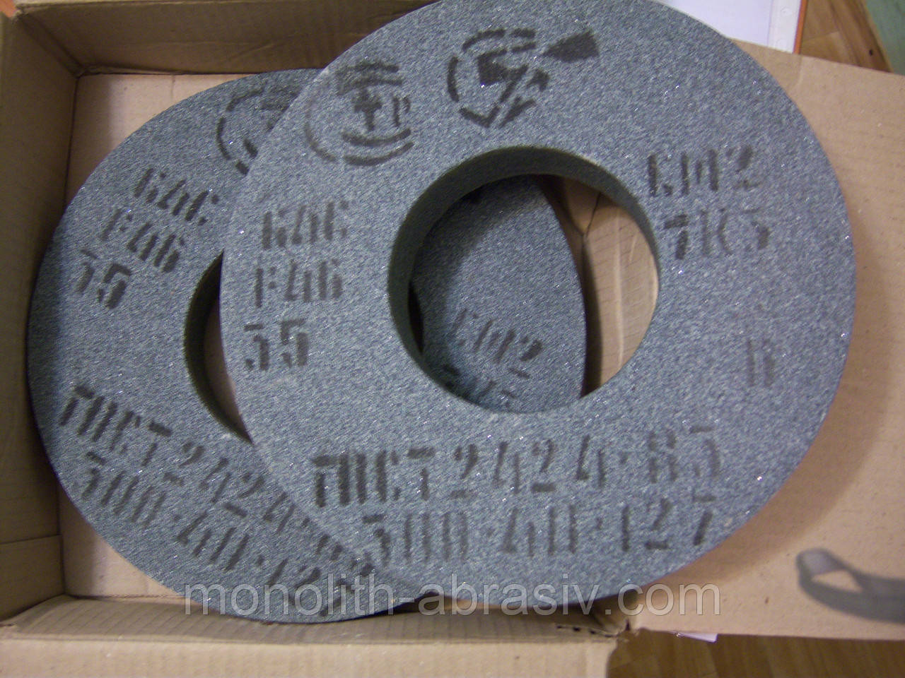 Круг шлифовальный 64С 300х40х127 зеленый