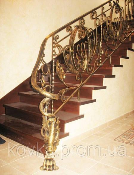 Кованое перило для лестницы