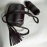 Жіноча сумочка STELLA з пітона кольору марсала на ланцюжку, фото 3
