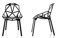 Стул Chair oneчерный алюминий,стиль модерн, дизайнKonstantin Grcic