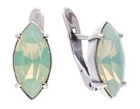 """Серьги """"Дассия"""" с кристаллами Swarovski, покрытые серебром (r6663103)"""