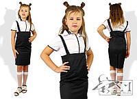 Детский школьный сарафан для девочки с удлиненными бретелями, разные расцветки и размеры