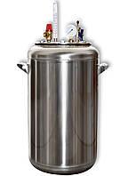Автоклав домашний газовый А32 нержавеющая сталь (0,5л - 32шт, 1л - 21шт)