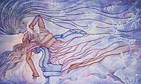 Набор для вышивки бисером Поцелуй снежной птицы FLF-12430x50