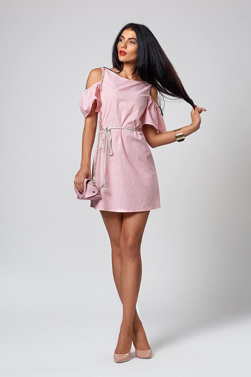 570b9dbc343 Женское платье из тонкого льна красного цвета - Интернет-магазин  Buyself.com.ua