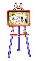 Дошка для малювання 0137775 помаранчево - фіолетовий крейда, маркер, мочалка